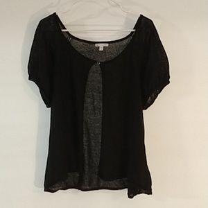 4/$25 Gap- wrap around camisole black XXL (0155)